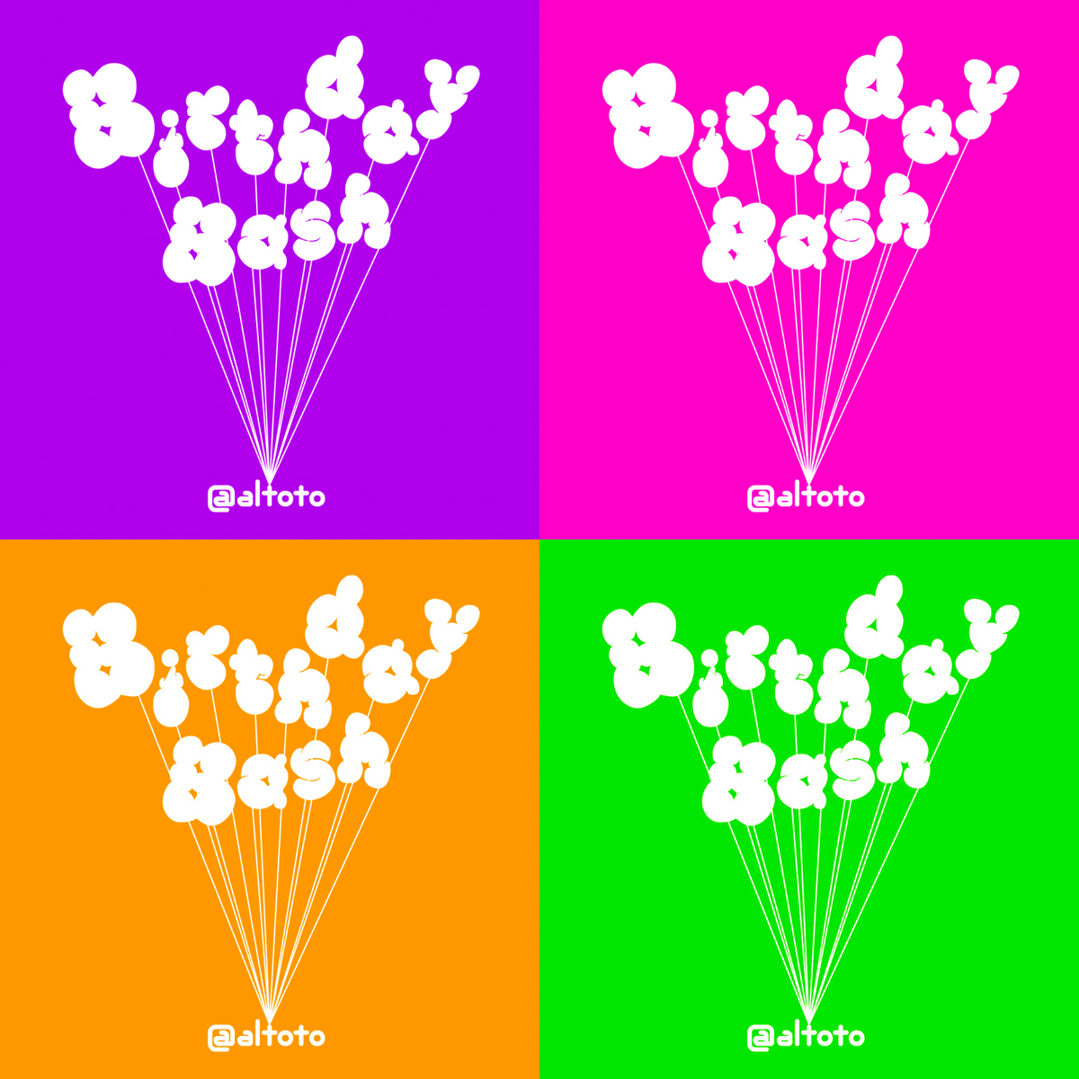 "Birthday Bash ""Birthday Bash Logo"""