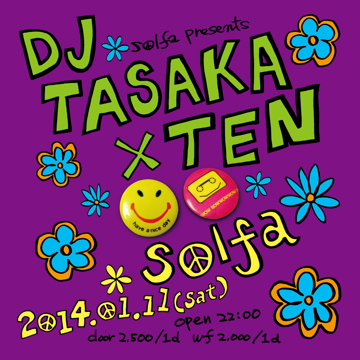 "Solfa Presents ""DJ Tasaka × Ten"""