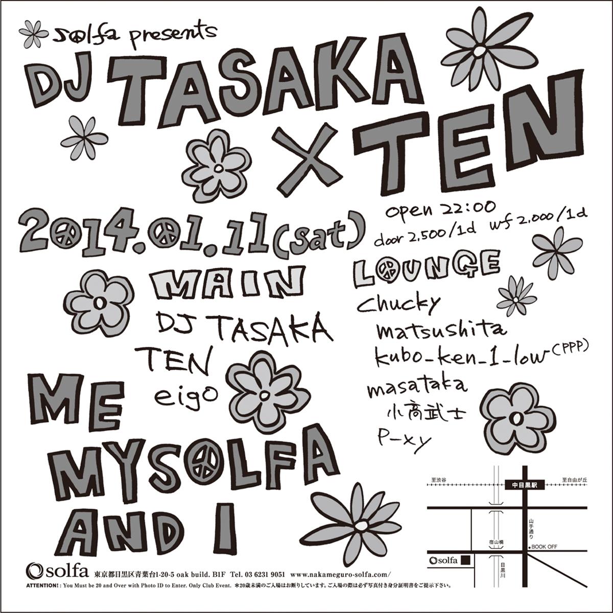 "Solfa Presents ""DJ Tasaka × Ten"""